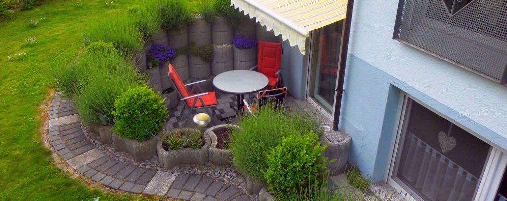 Ambiente Ferienwohnung: Terrasse | Ferienwohnungen am Europa-Park Rust (Urlaubsregion Europa-Park)